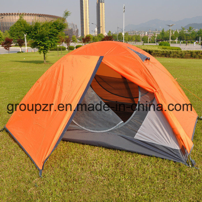 Double Layer 2 Doors Outdoor Camping Tent for 2 Persons