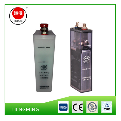 NiCd Alkaline Battery Gnc40 with Capacity of 40ah and 1.2V Voltage for Engine Starting