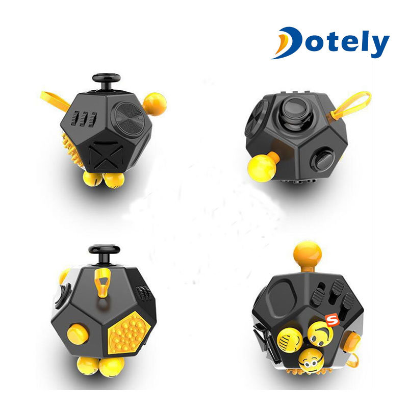 Best Quality Plastic 12 Sided Stress Release Fidget Cube in Stock