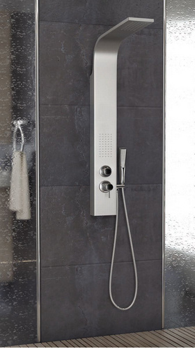 Stainless Steel Shower Column with Waterfall