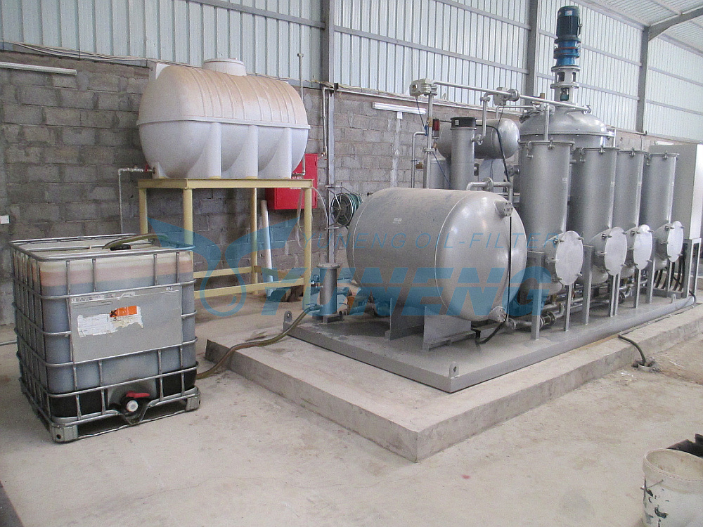 (Change Black to Yellow) Black Tire Pyrolysis Oil Recycling Machine