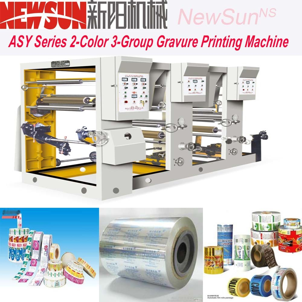 Asy Series 2-Color 3-Group Plastic Film Rotogravure Printing Presses