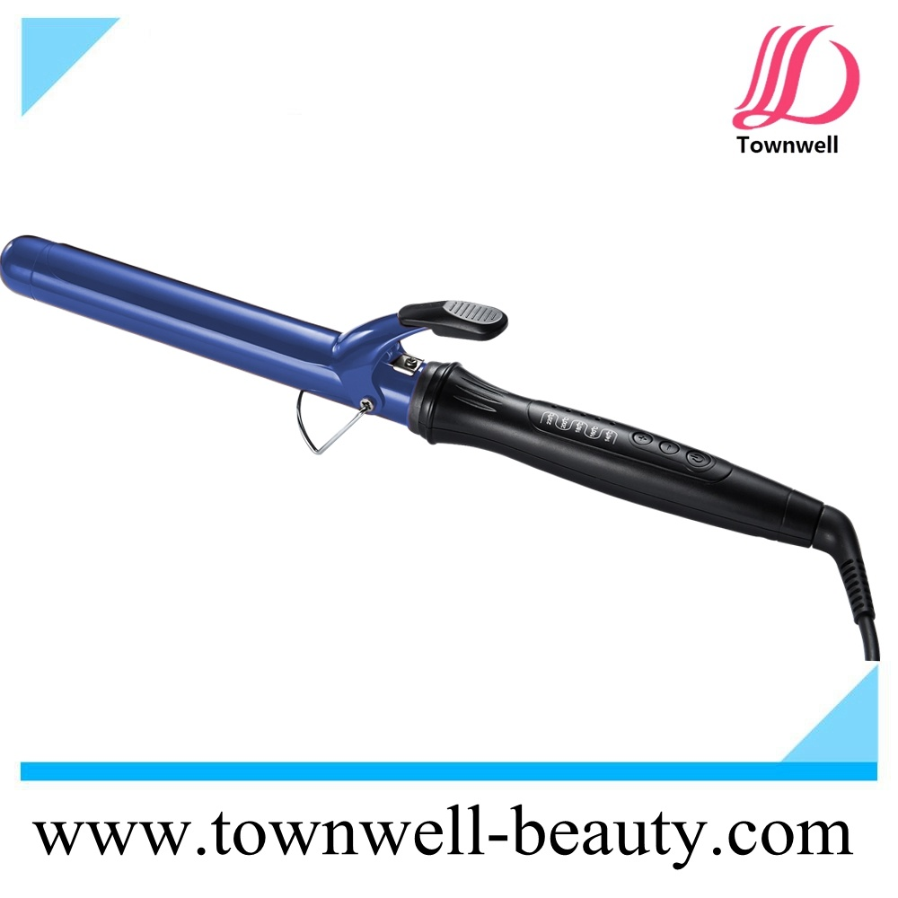 Fast Heat up Professional Hair Curling Iron with LED Indicators and Stand