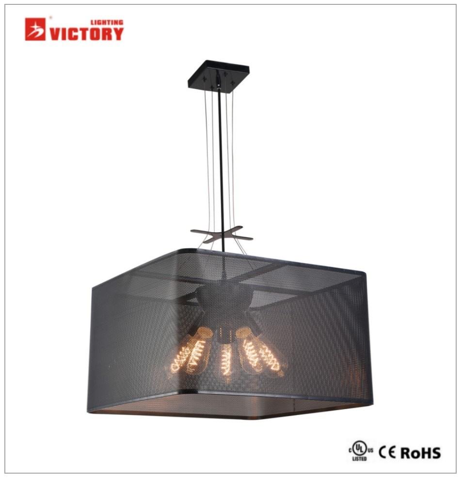 Modern Metal Chandelier LED Pendant Lamp for Hotel Restaurant