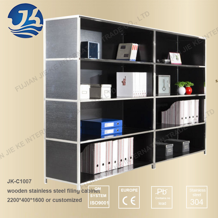China Black Wood with Stainless Steel Frame DIY Filing Cabinet ...