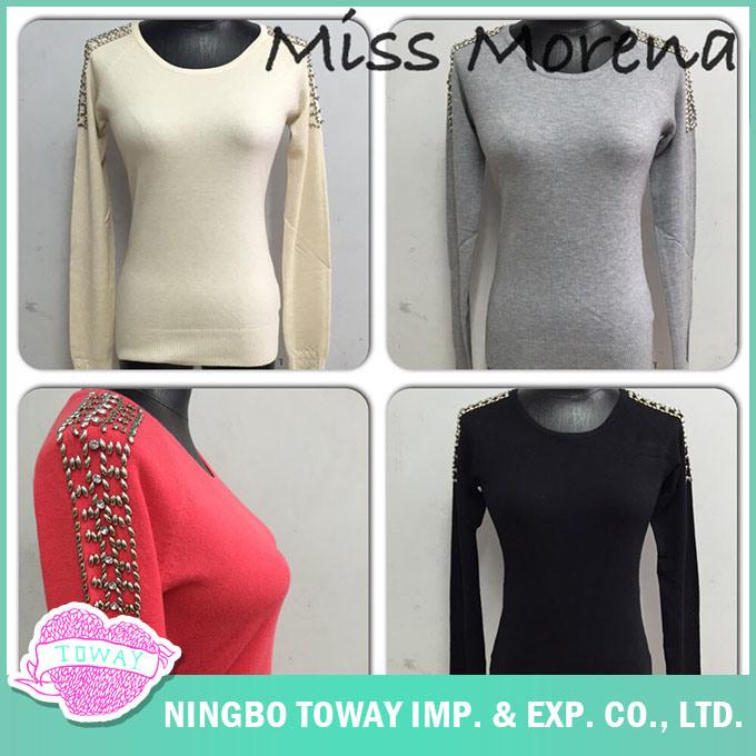 Knitwear Manufacturer Women Ladies Spring Grey Knitwear Clothing