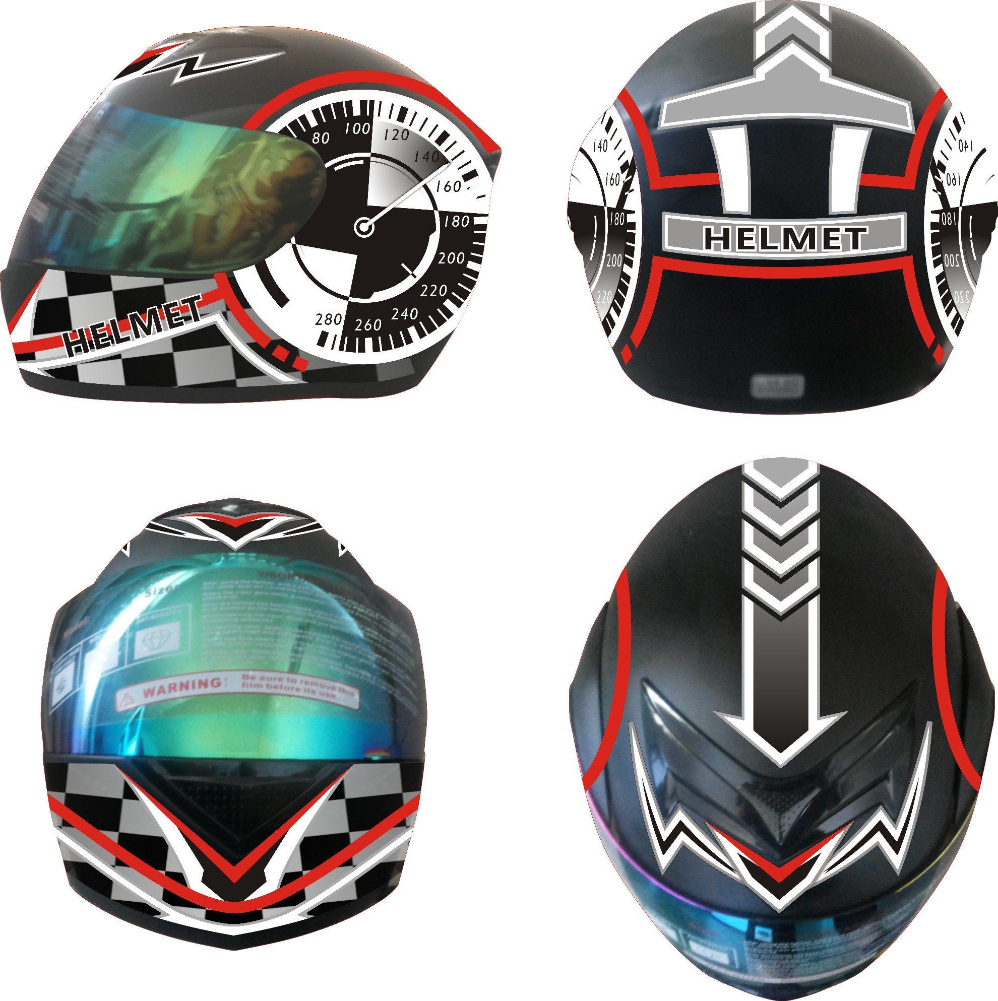 2017 DOT Approved Double Visors Motorcycle Full Face Helmet