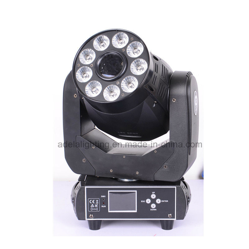 75W Spot 9X12W 6in1 Wash LED Moving Head Light