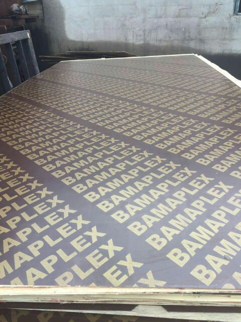Film Faced Plywood with Logo on Surface, WBP Glue, Poplar Core 610X2440X18mm