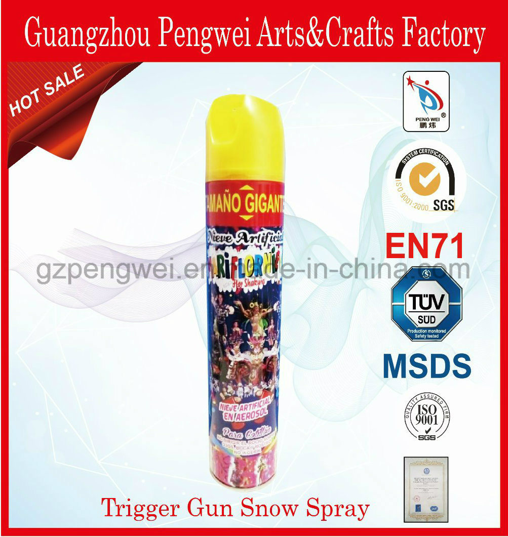 Popular Trigger Party Foam Snow for Christmas Decoration