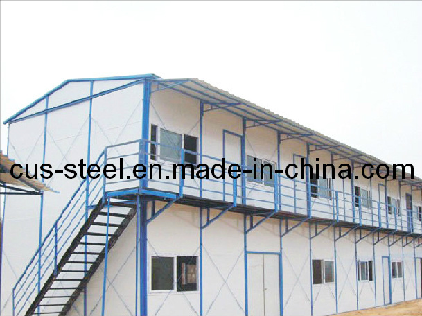 China High Quality Two Double Bevel Roof House Fabricated