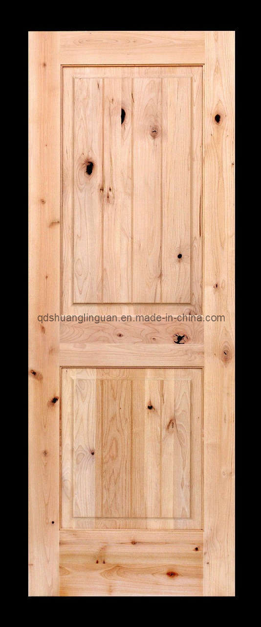China knotty alder solid wood door sd 1 china wood for Knotty alder wood doors