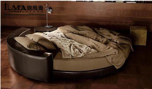 exellent home design leather bed