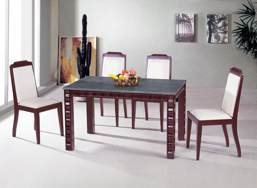 China solid wood dining sets living room furniture wooden for Living room chair and table set