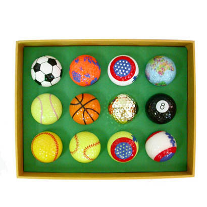 2-Piece Golf Ball with Sport Ball Printing, Promotion Level (B07205)