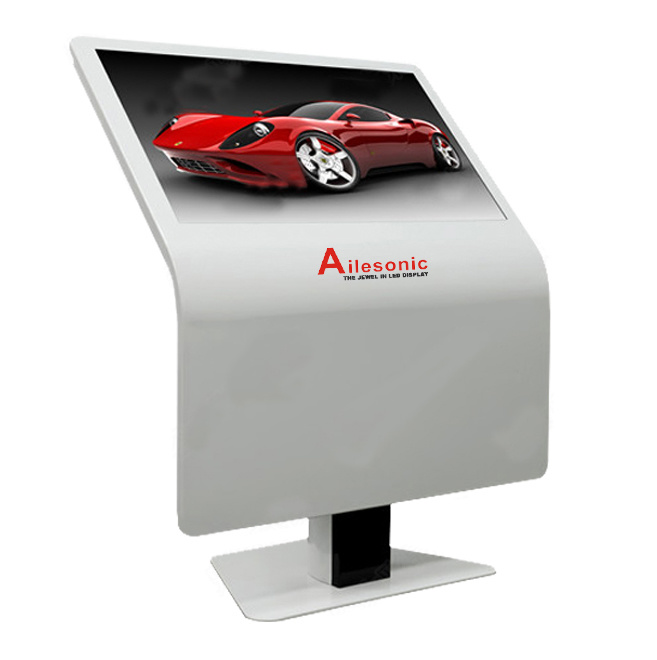 Floor Standing 55 Inch Touch Interactive Screen All in One Kiosk