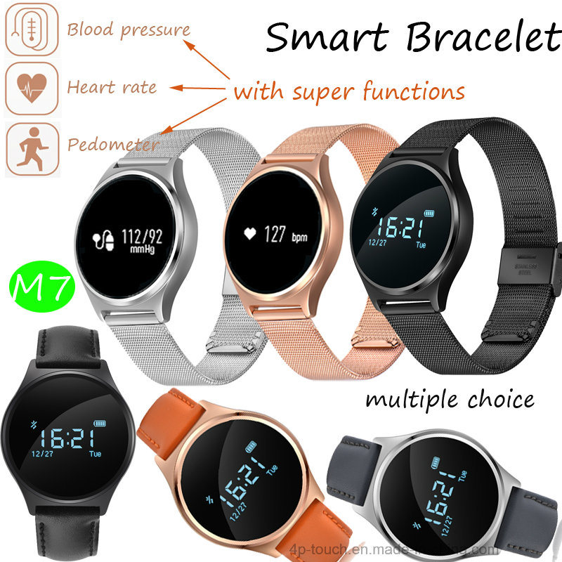 Newly Anti-Lost Circular Smart Bracelet with Heart Rate Monitor (M7)