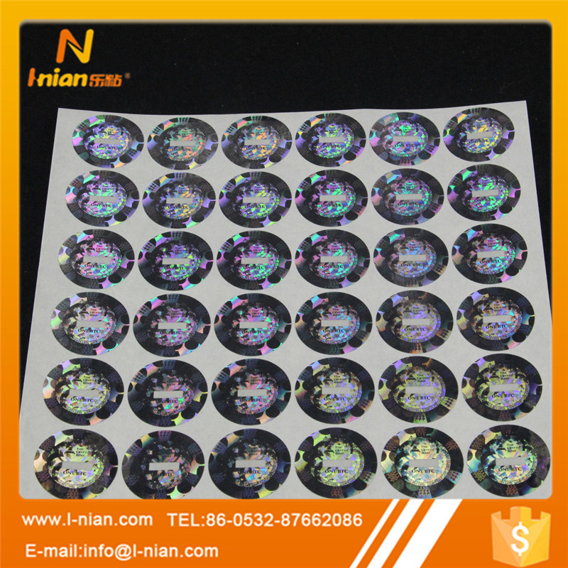 Custom Tamperproof 3D Laser Label Bitcoin Hologram Sticker