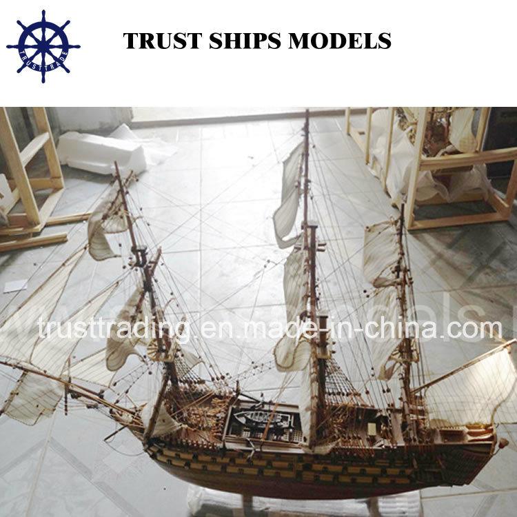 Custom Handcrafted Wooden Model Ship