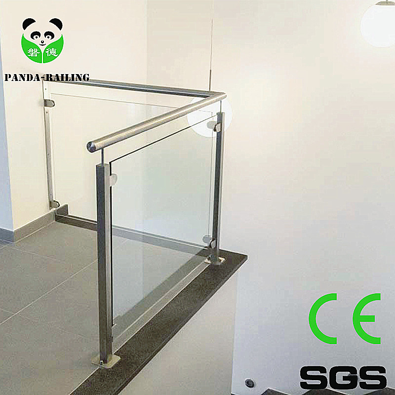 Stainless Steel Casting Railing Fitting / Handrail Glass Clamp / Balustrade Glass Clip