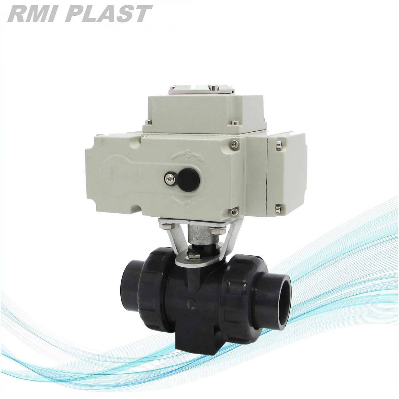 PVC Three Way Ball Valve with T Port