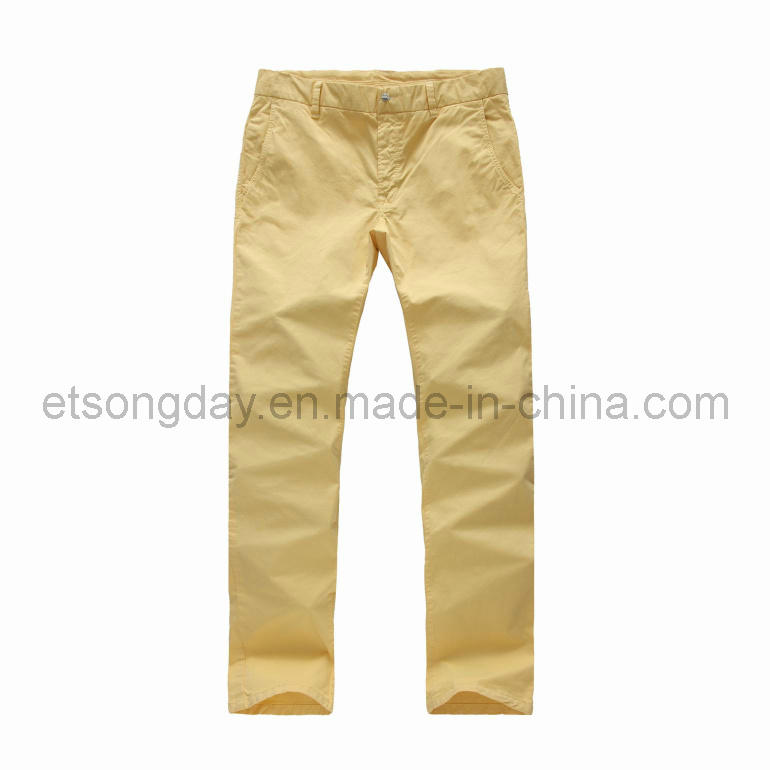 Cotton Spandex Twill Men′s Casual Trousers (APC50)