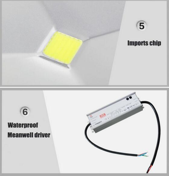 Die Casting Aluminum 50W LED Flood Light Daylight