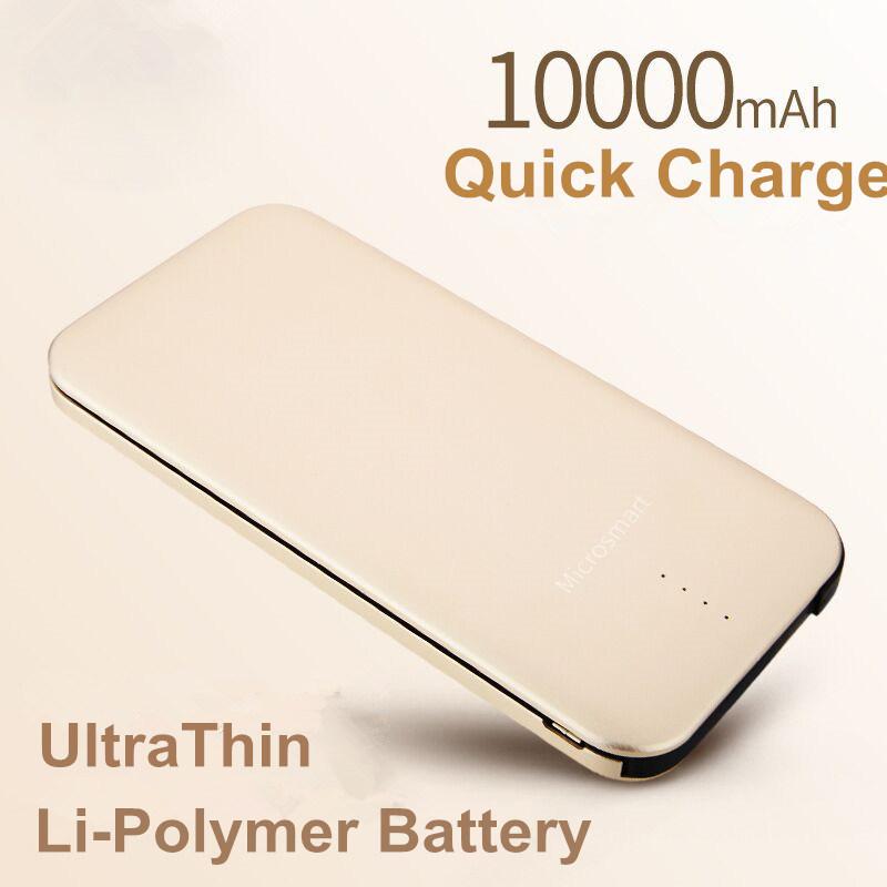 Newest 10000mAh Li-Polymer Power Bank Charger Thin