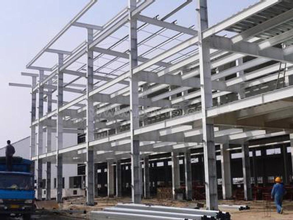 Steel Prefabricated Warehouse, Welding Galvanized Steel Structure