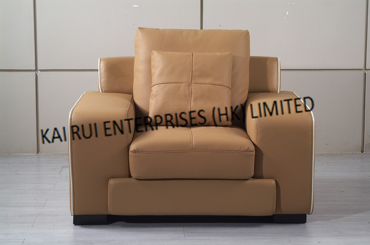 PVC Brown Modern Arm Sofa