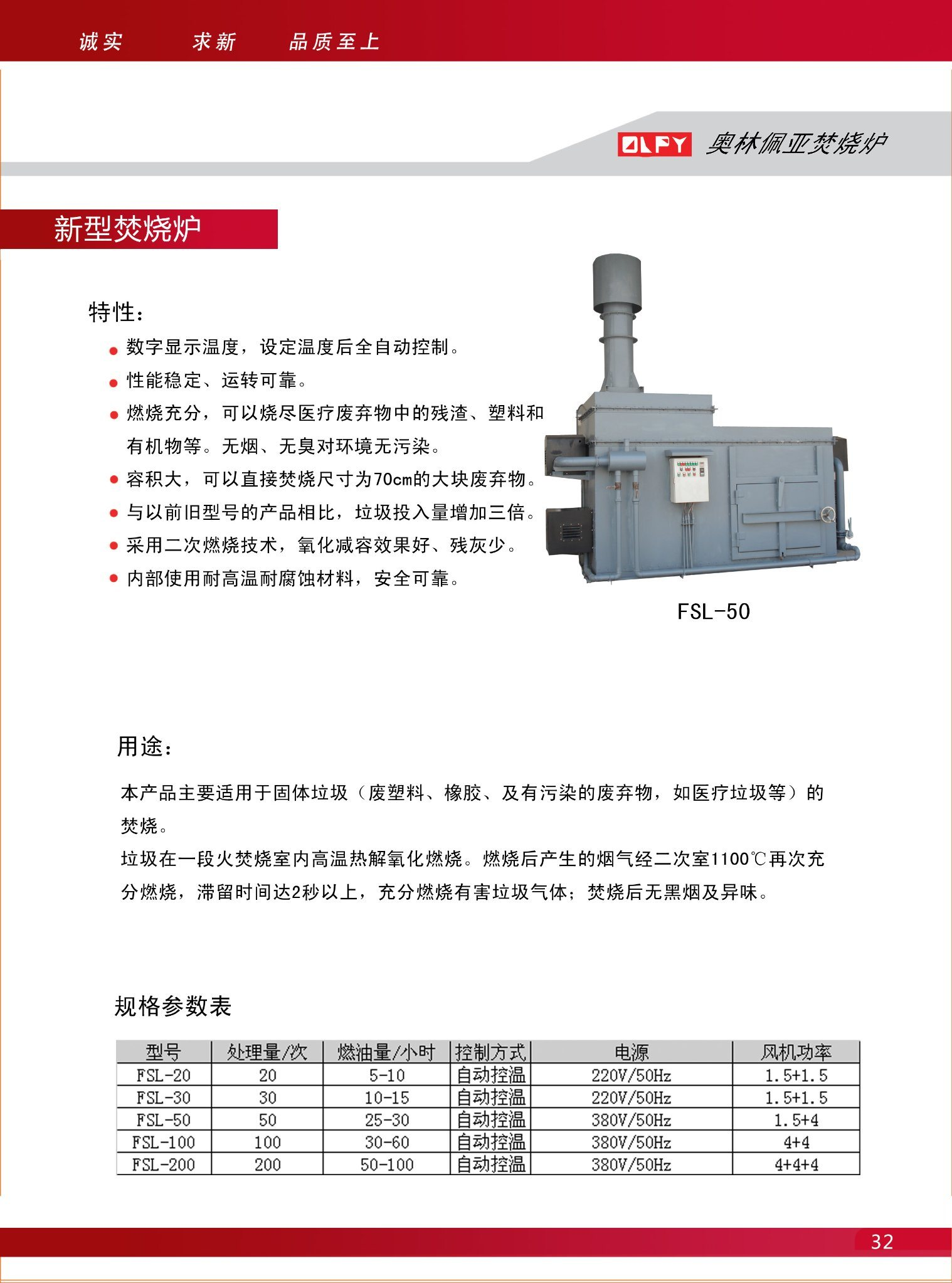 The Olpy Medical Waste Incinerator Without Secondary Pollution