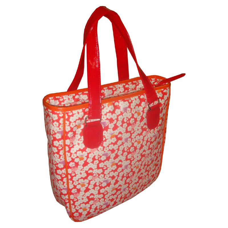 Fashion PU Leather Tote Handbag for College