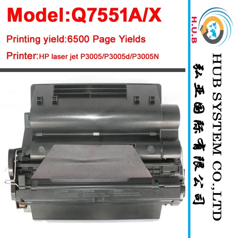 Laser Toner Cartridge for HP Q7551A/Q7551X (LaserJet M3027)