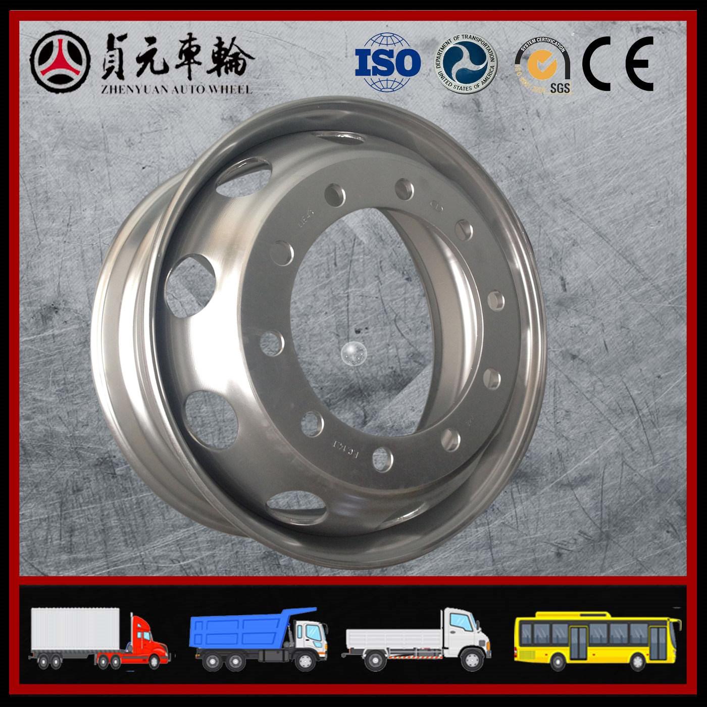 Truck/Trailer/Bus OEM Factory Steel Wheel Rims (8.5-24, 22.5*9.00, 22.5X8.25/11.75, 8.00V-20)