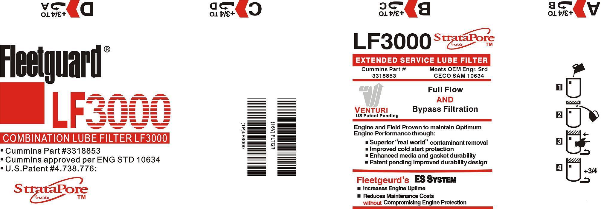 Oil Filter Lf691A Replaces Fleetguard for Cummins