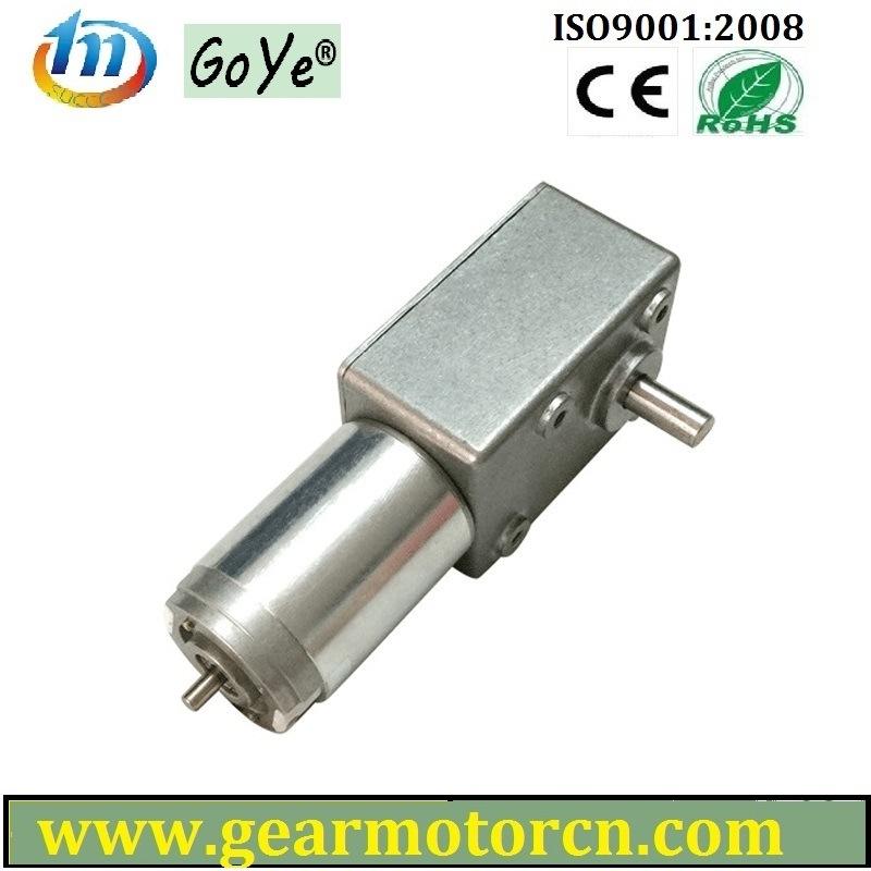 82mm Base High Torque Low Speed DC Worm Gear Motor 6V-24VDC