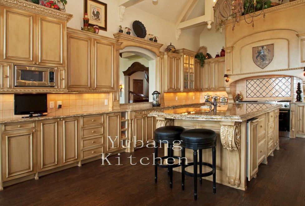 2017 New Design Wood Kitchen Cabinet Oak Kitchen Furniture #206