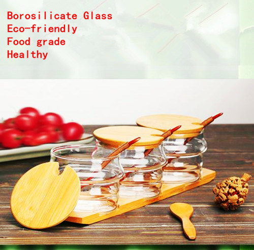 Eco-Freindly Food Grade Glass Spice Jar