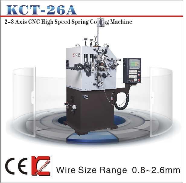 Kct-26A CNC Spring Machine for Making Compression Spring & Ring Coiler