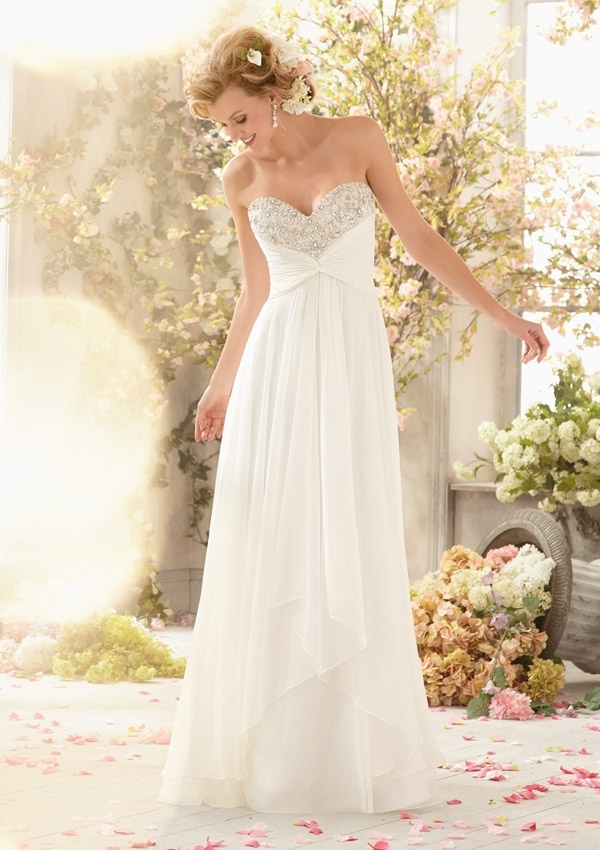 Chiffon Beaded Fashion Bridal Wedding Gowns (WD5004)