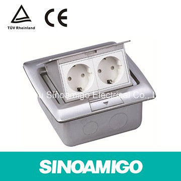 Stainless Steel Cbd Low Voltage Wiring System Electrical Floor Wiring Junction Box Outlet Socket