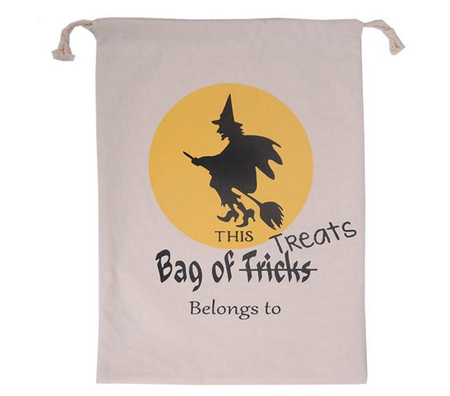 Halloween Favor Cotton Bag with Drawstring