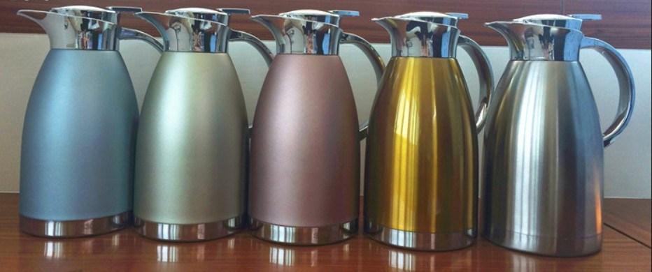 18-8 (304) Stainless Steel Double Wall Vacuum Kettle (TT-002)