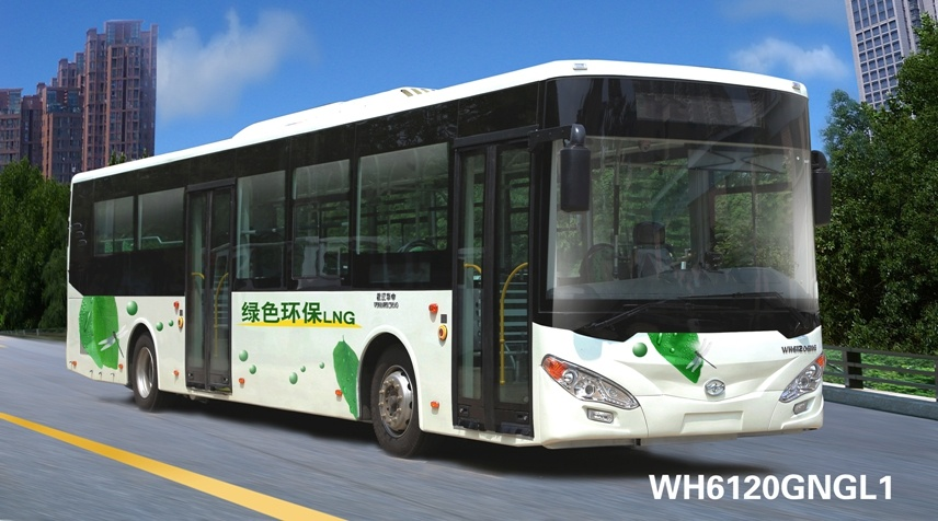 Huazhong Wh6120gng CNG City Bus