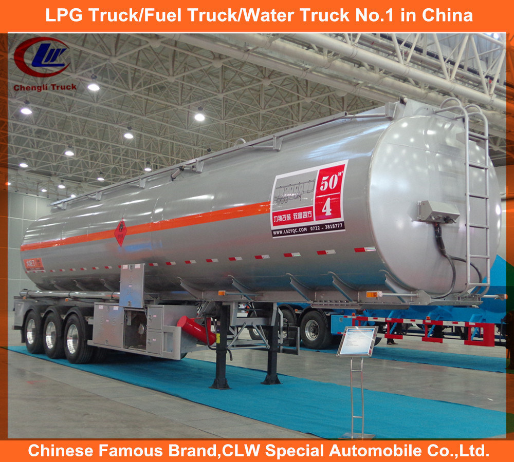 Heavy Duty 3 Axles Fuel Tank Trailer / 35cbm 42cbm 45cbm 50cbm 55cbm 60cbm Fuel Tank Semi Trailer