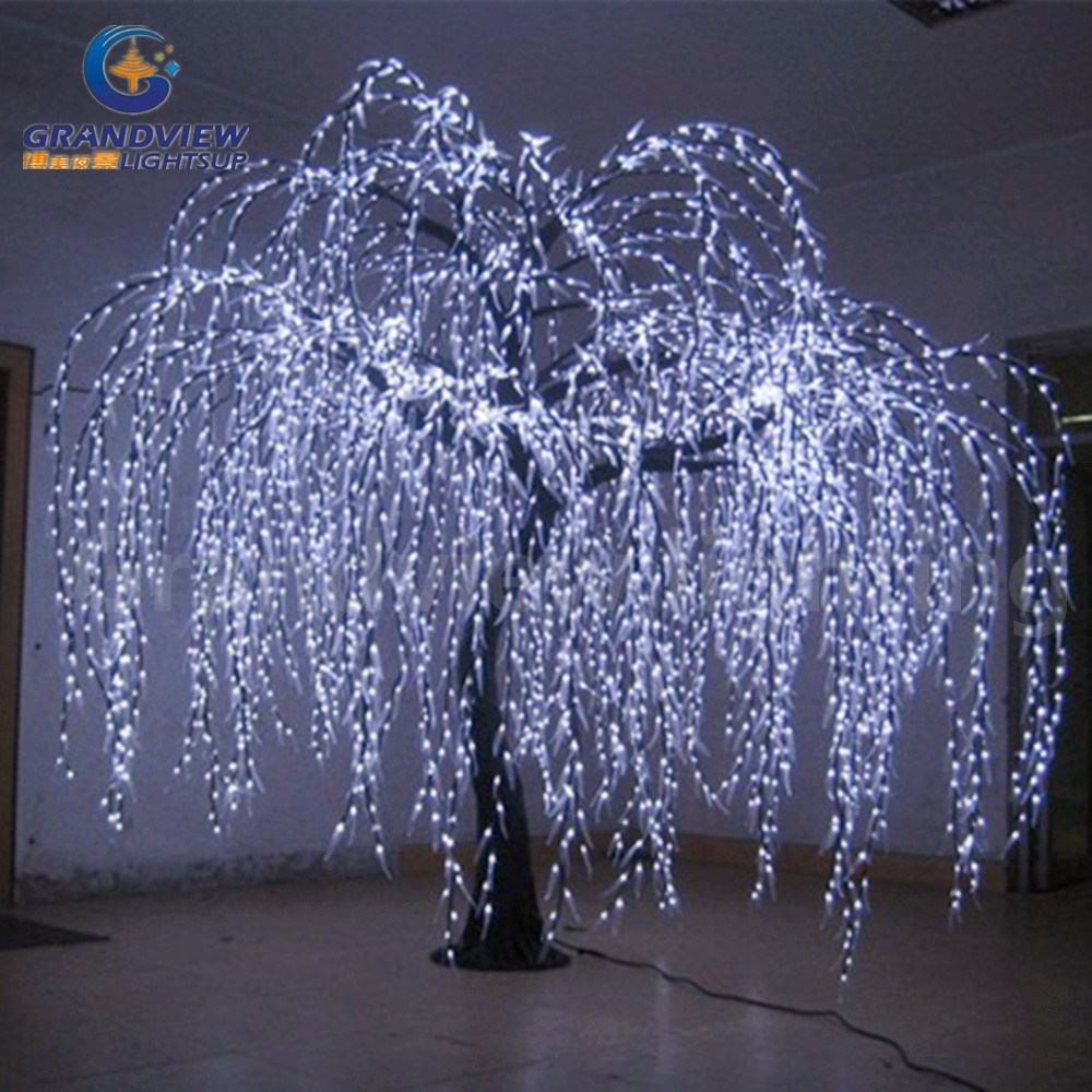 China Lighted Willow Tree Real Look Trunk LED Indoor out Door Artificial Christmas Tree Lights ...