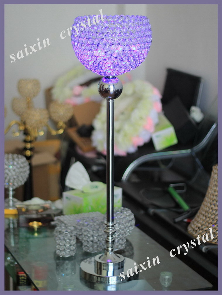 China unique crystal globe stand with coloured led light