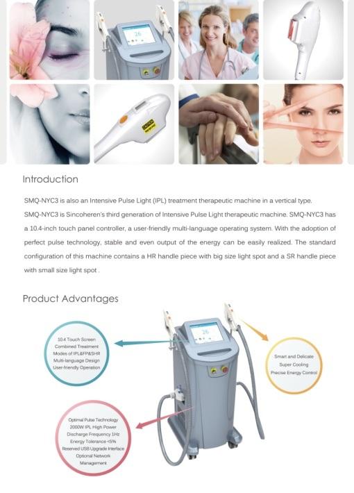 IPL Shr&E-Light Hair Removal Equipment&Machine with FDA