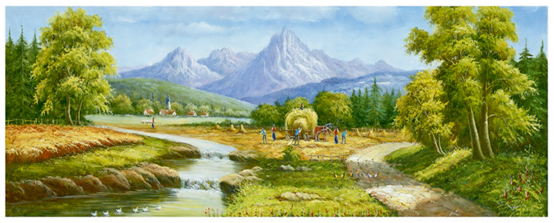 Factory Direct High Quality Landscape Oil Painting, Art Painting, Decoration Painting (Y227)