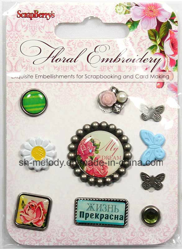 Exquisite Metal Embellishments for Scrapbooking and DIY Project